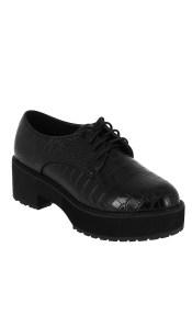 IQSHOES Γυναικείο Casual 18.103.DS612 Μαύρο - IqShoes - 18.103.DS612 BLACK-IQSHOES-black-39/1/15/25