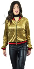 Bomber Μεταλλιζέ Gold Shiny Jacket - Kzell - FAKZ17-47968