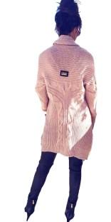 Γυναικεία Πλεκτή Fluffy Oversized Ζακέτα - MissReina - W17SOF-4869 e20d1726fdb