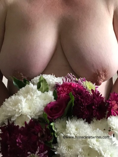 flowers and boobs