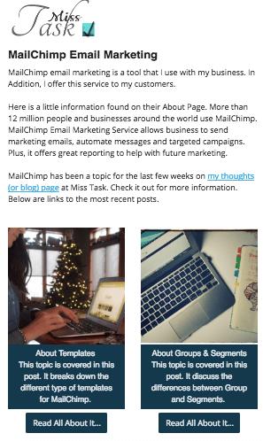 MailChimp Campaign Example