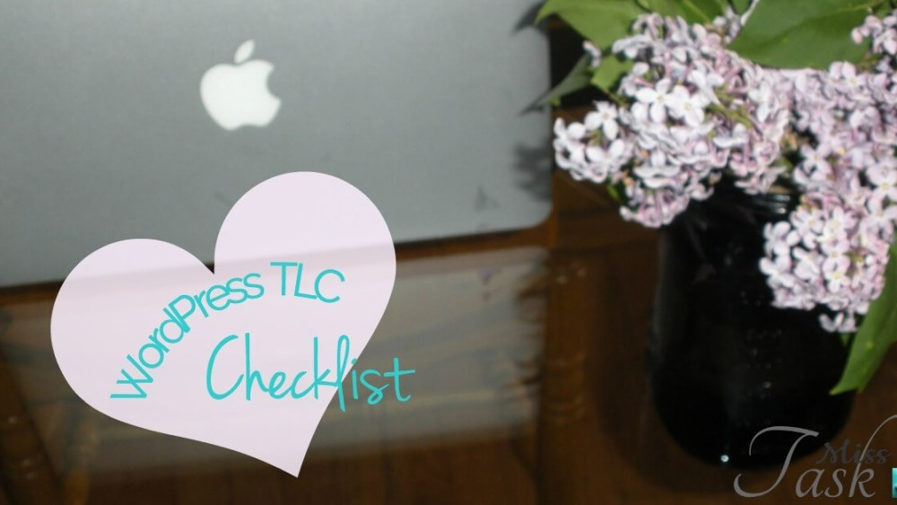 Miss Task WordPress Monthly TLC Checklist Download