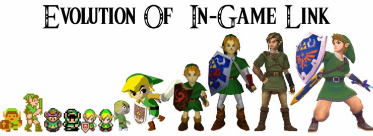 Evolucion de Link Zelda