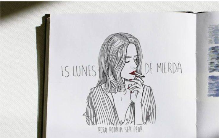 Ilustraciones Sara Herranz con frases