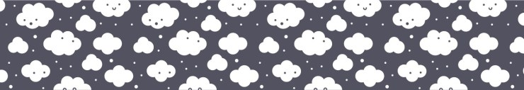 pattern kawaii clouds