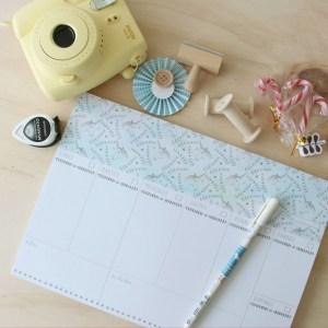 Planificador semanal unicornio