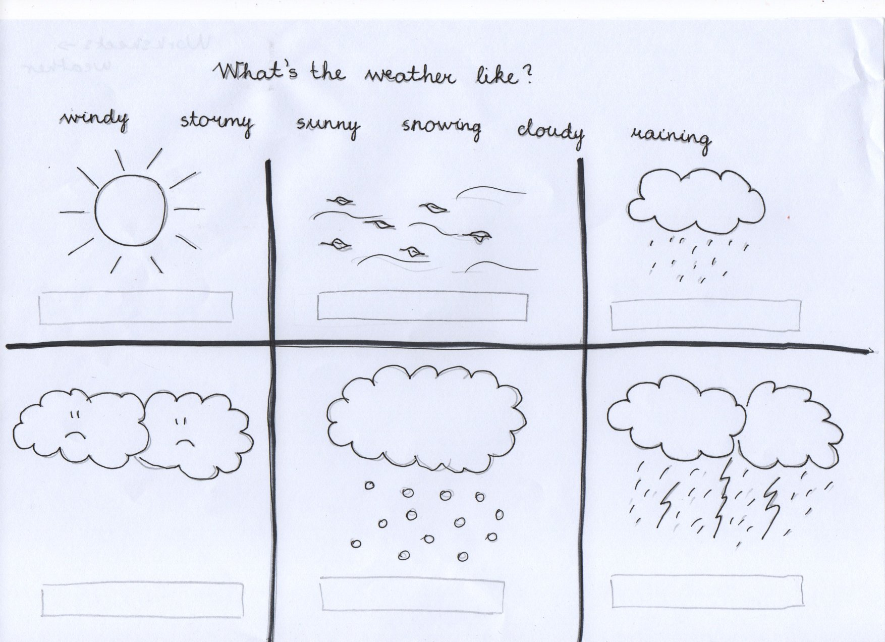 Weather Coloring Worksheet For Kindergarten