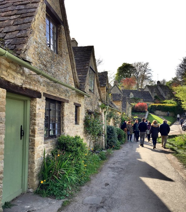 Bibury in the Cotswolds. One of the most beautiful villages in England.