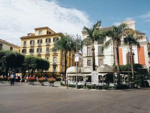Piazza Tasso v Sorrentu, Itálie