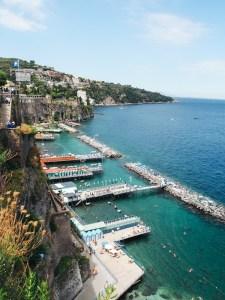 Výhled z Villa Comunale, Sorrento