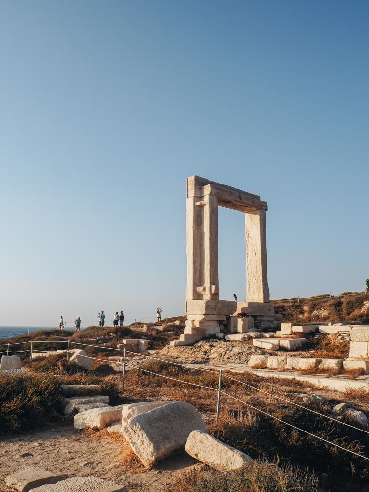 Hlavní město Chora na ostrově Naxos