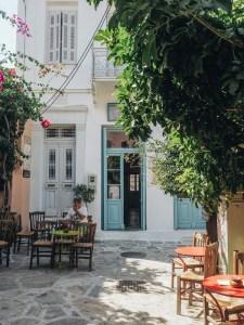 Vesnička Chalki na ostrově Naxos