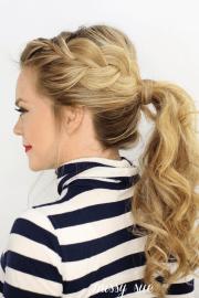side french braid ponytail