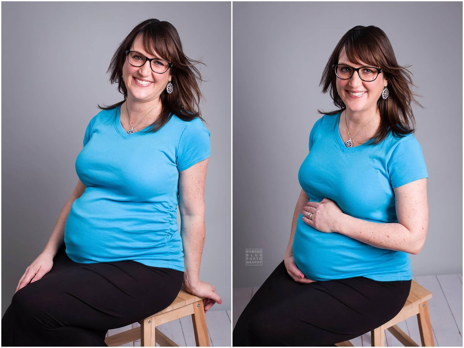 Pittsburgh Maternity Photographer | Maternity Studio Mini Session | L Family