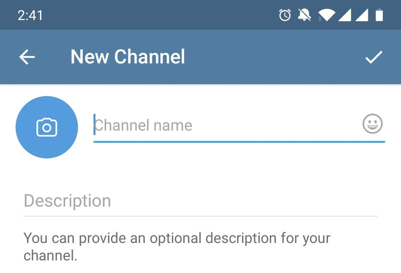 How to create your own telegram channel