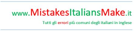 Mistakes Italians Make