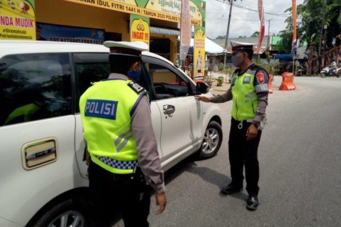 Polres Tanjung Balai Periksa Ketat Kendaraan Pemudik