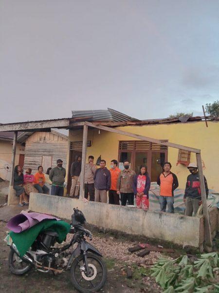 Puluhan Rumah Rusak Parah di Terjang Angin Puting Beliung di Dairi
