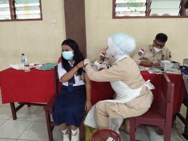 Hipakad Sumut Tuntaskan Vaksinasi Covid-19 di Sekolah Pencawan