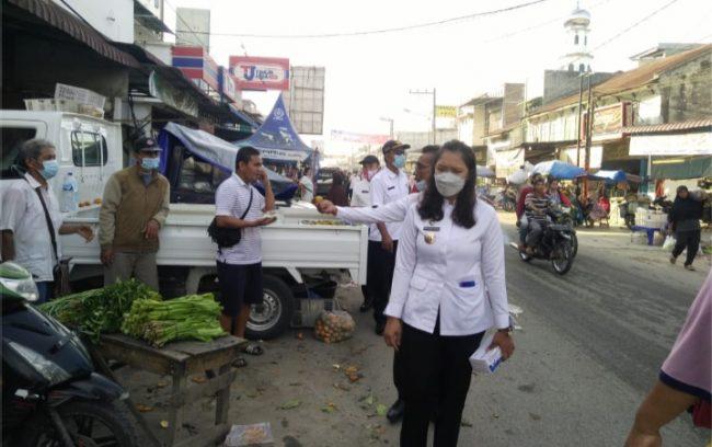 Pedagang Kaki Lima di Pasar Galang Kota Deli Serdang Ditertibkan