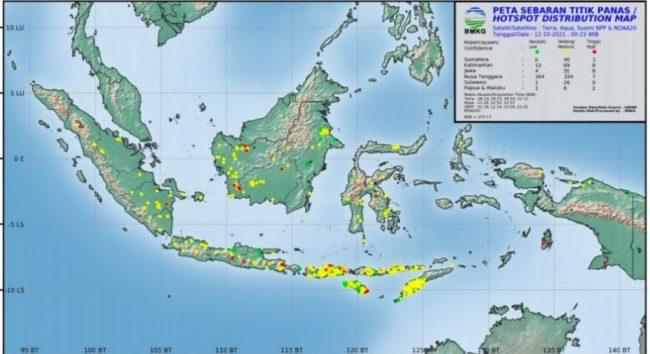 BMKG Deteksi Tujuh Titik Panas di Sumut, Suhu Udara Capai 35.5 Derajat Celcius