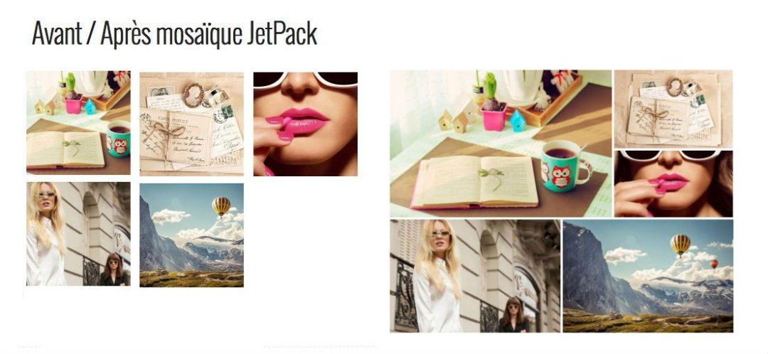 Mosaïque d'images JetPack