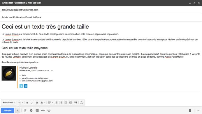 Dans Gmail