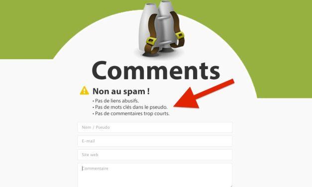 Ajouter un message au formulaire de commentaires JetPack Comments