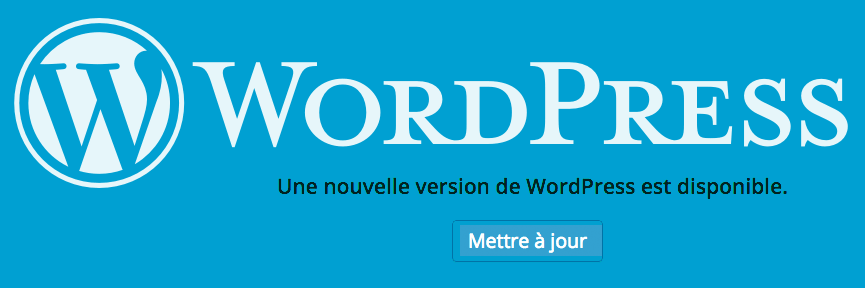 Une nouvelle version de WordPress est disponible.