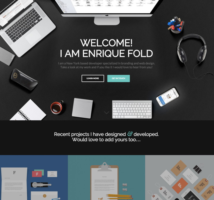 Enfold One Page Portfolio