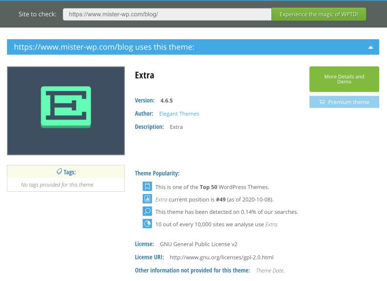 Ranking del mejor tema de WordPress: EXTRA de ElegantThemes