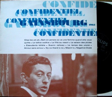 Album Confidentiel de Serge Gainsbourg