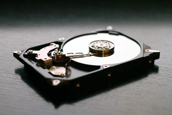 Image d'un disque dur de stockage de fichier