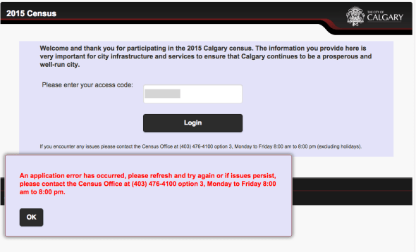 Calgary Census Fail
