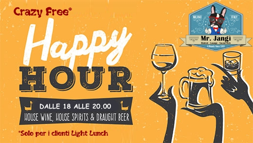 Crazy Free happy Hours al Mister Jangi
