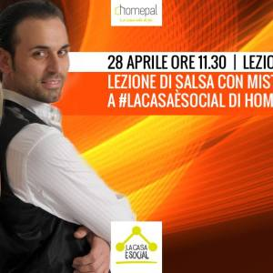"""Lezione di Salsa con Andrea&Erminia a """"La Casa è Social"""""""
