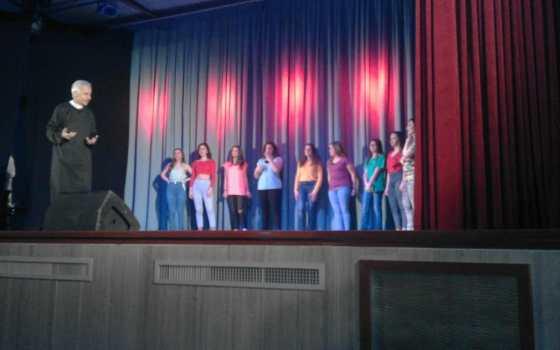 Le ragazze del Coreographic Team della Mister Mabo al Teatro Gianelli