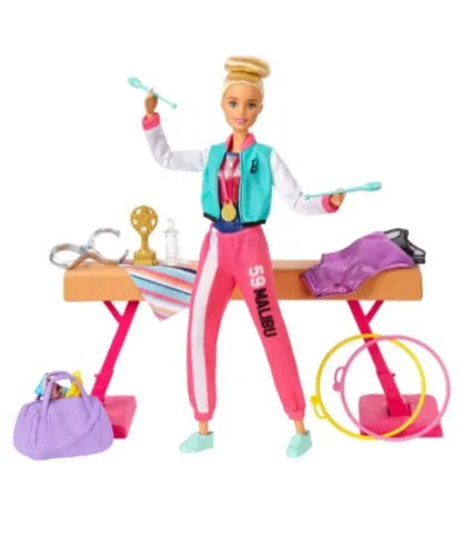 Things to do this Christmas- Barbie gym gift set
