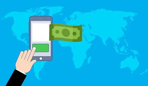Digital marketing strategy- picture of cellphone with cash