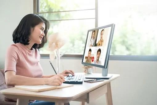 entrepreneurial ideas- girl on computer