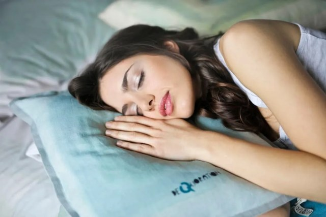 Investment in your health- girl sleeping