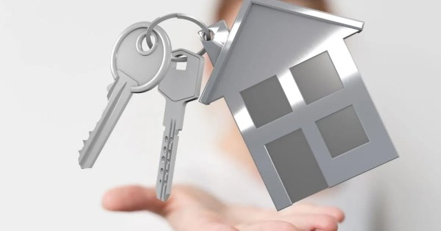 Best places to buy rental property- house   shape keychain with key