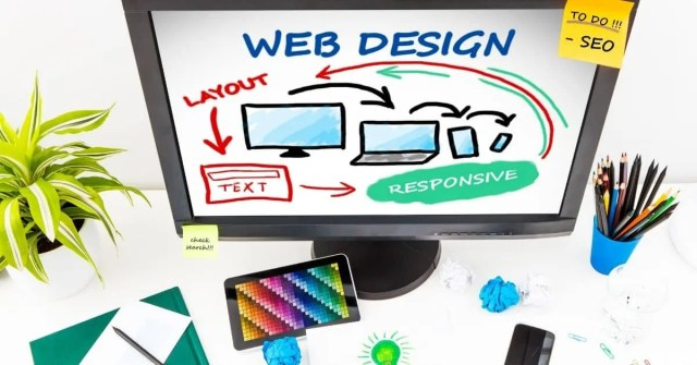 Free Digital Marketing Courses- web design picture on computer monitor