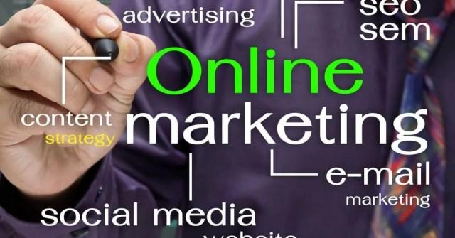 Online marketing sign