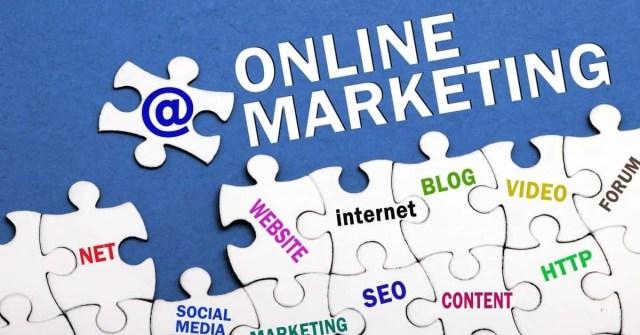 Online marketing jigsaw puzzle