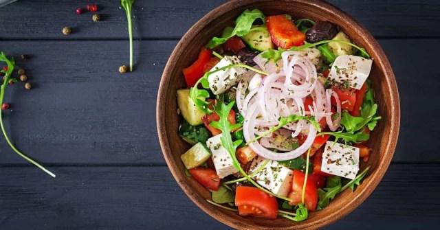 Healthy food on table.