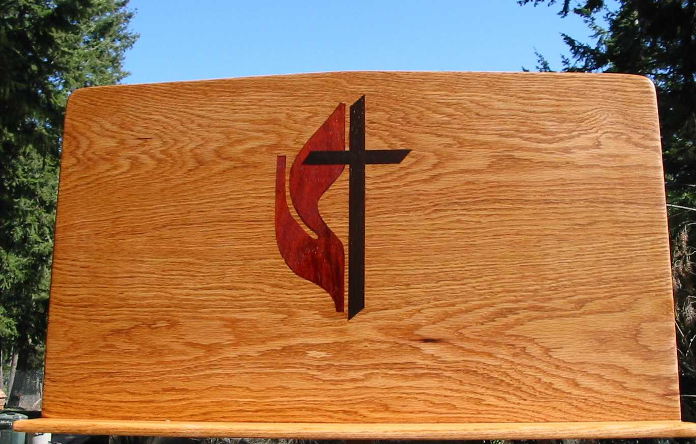 United Methodist Cross With Flame