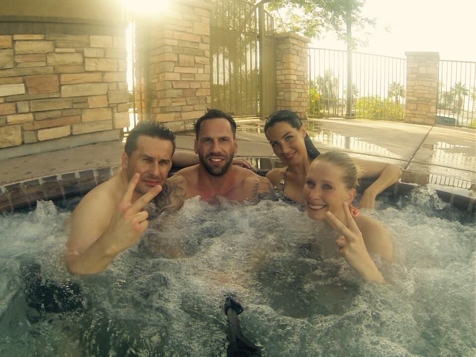 Nochmal in Yuma im Hotel schön im Whirlpool entspannen...
