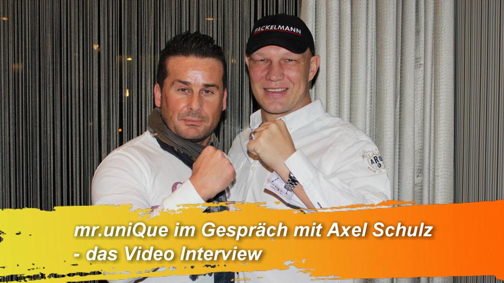 Mister UniQue im Video-Interview mit… Axel Schulz, dem sympathischen Ex-Schwergewichtsboxer