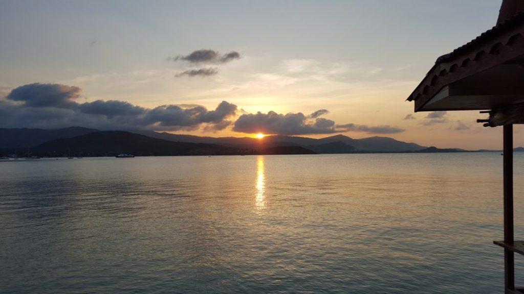 Und nun kommt der Moment, wo die Sonne untergeht. Einfach wunderschön.
